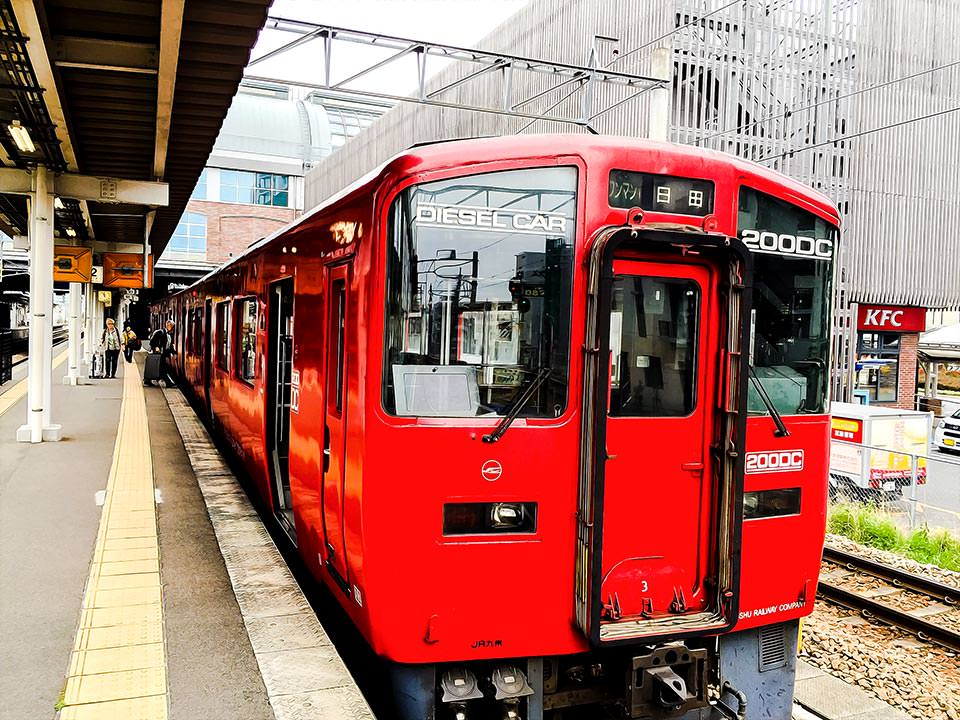 Red Train in Japan